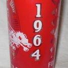 Rare 16th Annuel Oklahoma Sooners OU 1964 Varsity vs Alumni Football Game Glass