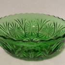 "Vintage Anchor Hocking Green STAR & CAMEO 8"" Chip Bowl"