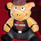 "Mint Harley Davidson 10"" Biker Pig Plush Doll 1998 Officially Licensed"