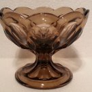 "Vintage Anchor Hocking Tawny Brown ""FAIRFIELD"" Glass Compote"