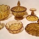 Vintage Anchor Hocking Honey Gold FAIRFIELD Collection 7pc Lot