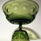 Vintage Barlett & Collins Green Manhattan Glass Serving Bowl