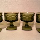 Vintage Green Depression Glass Low Sherbets
