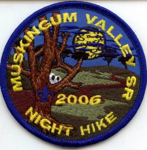 Boy Scout Patch Muskingum Valley SR Night Hike 2006