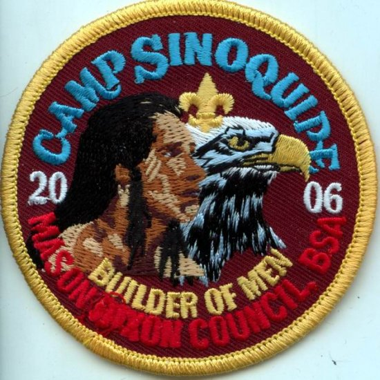 Boy Scout Patch Camp Sinoquips 2006 Mason Dixon Council