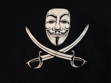 V for vendetta men's L t shirt punk rock emo anarchy funny tee