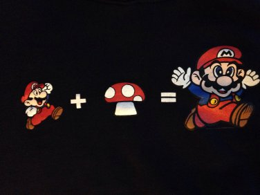 Womens super Mario hoodie XL punk rock cute funny emo retro NES nintendo