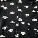 Skull hoodie women's warm cute funny punk rock emo retro metal