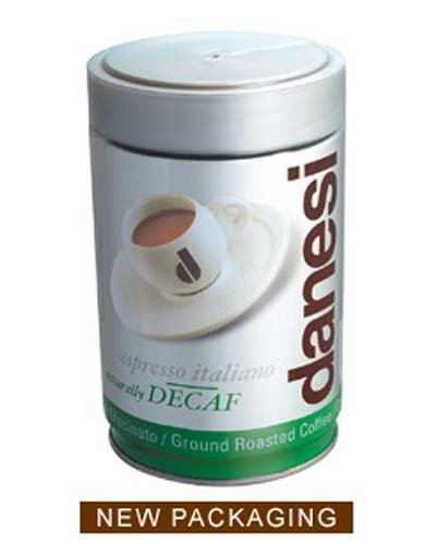 DANESI DECAF ESPRESSO GROUND COFFEE 8.75 0Z TIN