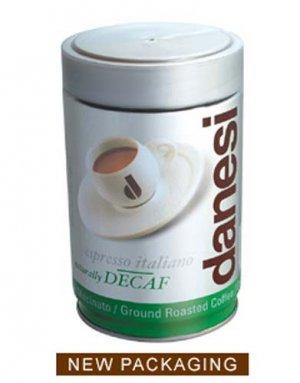 DANESI DECAF ESPRESSO GROUND COFFEE 8.75 0Z TIN
