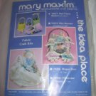 Mary Maxim Plastic Canvas Needlework Craft Kit #78213 Mini Fabric Baskets NOS