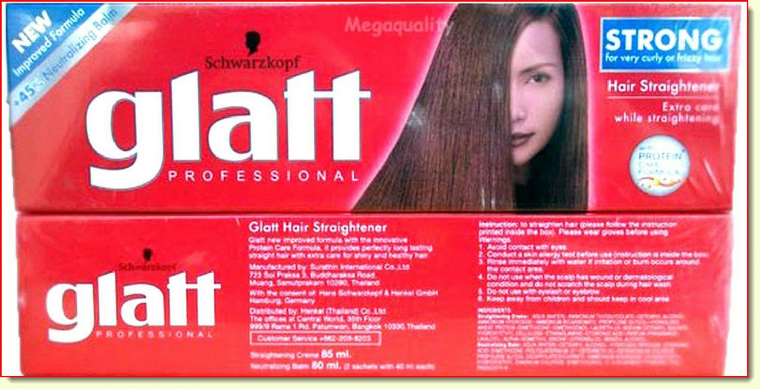 Glatt professional Schwarzkopf Hair Straightener cream strong formula curly hair