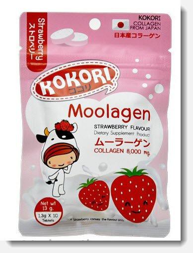 kokori Moolagen collagen 8,000mg Strawberry flavour