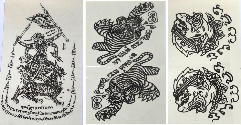 Temporary Thai Tattoos Stickers Waterproof Art Stickers set 2