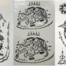 Temporary Thai Tattoos Stickers Waterproof Art Stickers set 3
