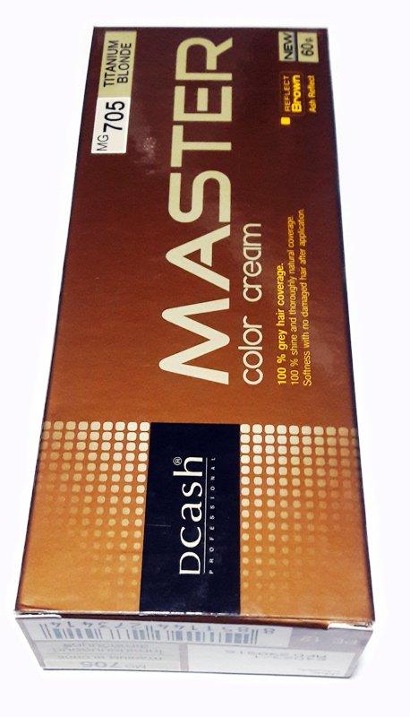 DCASH PROFESSIONAL MASTER COLOR CREAM #MG 705 TITANIUM BLONDE 60g.