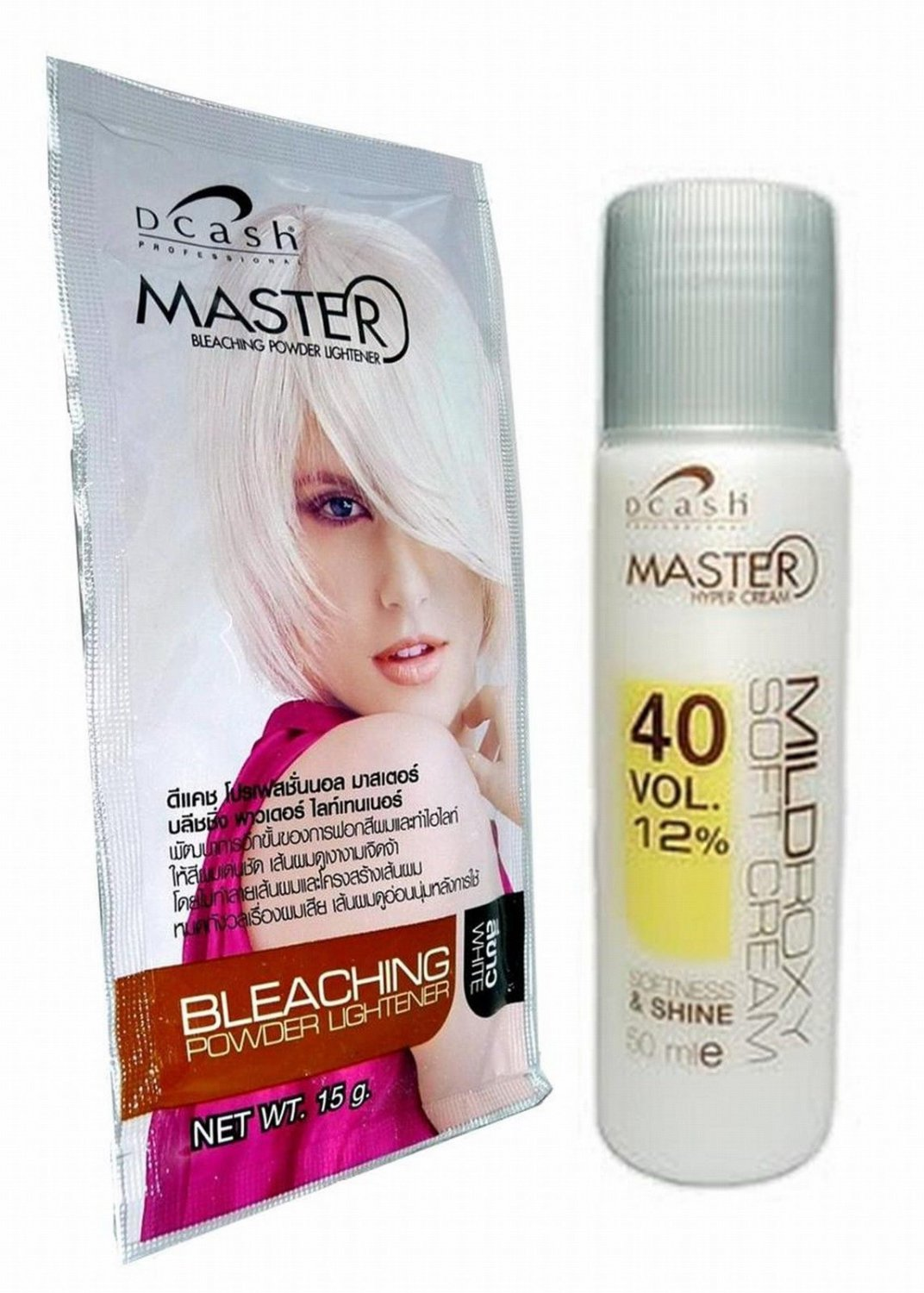 Hair Bleaching Dye Color Plantinum Lightener Lightening Powder Kit BLEACH WHITE