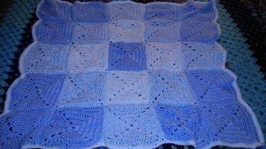 Baby boy block blanket