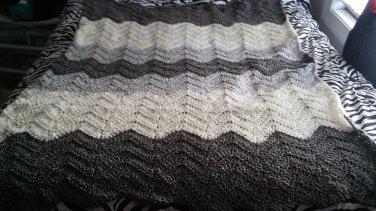 gray wave blanket