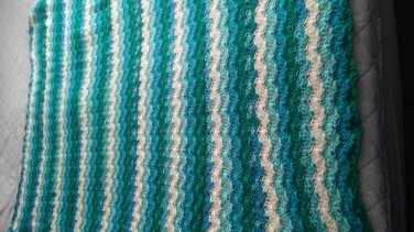 ocean colored soft blanket