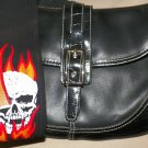 Guitar Strap Shoulder Purse with Flaming Skull Strap!