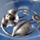 BROOCH / PIN: sterling 925 silver vintage vtg Deco Raffaele Floral Flower