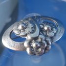 BROOCH / PIN: sterling 925 silver Benelle Oval Frame Flower