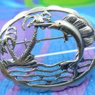 BROOCH / PIN : sterling silver VINTAGE SAILFISH 2 INCHES WIDE - FLORIDA FISHING