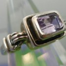 RING sz 7 signed sterling INDIA AMETHYST GEMSTONE signed