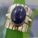 RING sz 10 sterling 925 silver RAFUL CANDO SILVER SPECKLED LAPIS