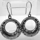 vintage STERLING 925 SILVER TAXCO MEXICO signed SHEPARDS HOOK EARRINGS