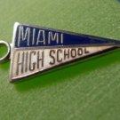 MIAMI HIGH SCHOOL KINNEY  Sterling Silver & Enamel Charm