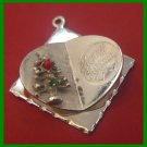 vintage CHRISTMAS HOLIDAY CHARM : Unique Christmas Card-Like Tree - M&M Sterling
