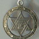 JUDAIC CHARM : STAR OF DAVID marked STERLING