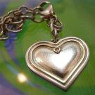 """my DAUGHTER my FRIEND HEART w/ Diamond STERLING 8"""" CHARM BRACELET -"""