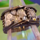 RING sz 8 ALAN K  RETIRED signature collection STERLING WEDDING - MILLEFIORI