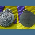 STERLING ST BARBARA CHARM Protector of Artillerymen & Miners / ITALY
