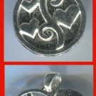 2 PIECE CHARM: sterling 925 silver GIRLFRIENDS ARE FAMILY signed LA