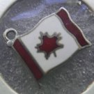 CHARM : 800 SILVER / ENAMEL FLAG OF CANADA signed BMCo ?