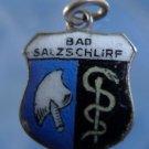 BAD SALZSCHLIRF Enamel & 800 Silver Travel Shield Souvenir Charm