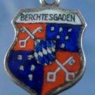 BERCHTESGADEN Enamel & 830 Silver Travel Shield Souvenir Charm