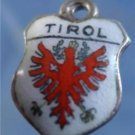 TIROL Enamel & 800 Silver Travel Shield Souvenir Charm