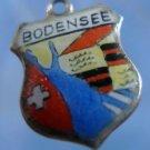 BODENSEE Enamel & 800 Silver Travel Shield Souvenir Charm