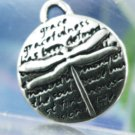 Inspirational Verse Charm 950 Silver DRAGONFLY - GRACE 16mm