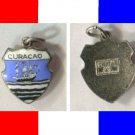 CURACAO Enamel & Sterling Travel Shield Souvenir Charm