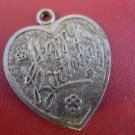 Vintage Sterling Silver Heart Shaped Charm by LAMODE