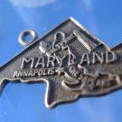Vintage Souvenir Charm: F Sterling Maryland Map