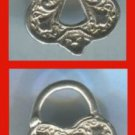 CHARM: sterling 925 silver 28mm TALL PADLOCK