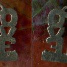 vintage STERLING 925 SILVER 60'S LOVE CHARM