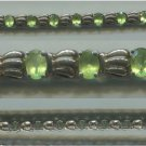 DECO (STYLE?) BRACELET : 7.5 INCHES : STERLING 925 THAILAND : LIME GREEN STONES